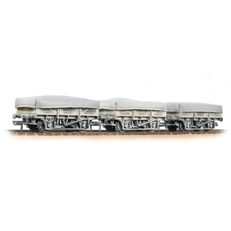 bachmann-33091-5-plank-china-clay-3wagon-pack-br-bauxite-early-with-tarpaulin-covers-00-gauge