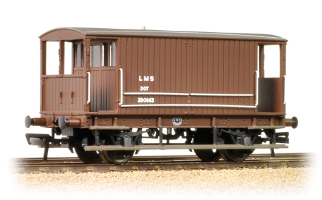 bachmann-38553a-midland-20t-brake-van-lms-bauxite-without-duckets-oo-gauge