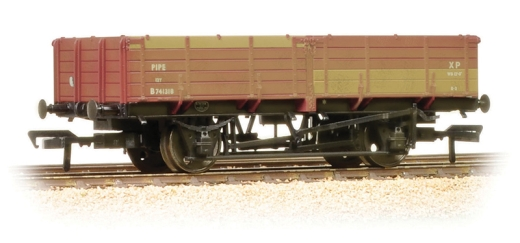bachmann-38700a-12-ton-pipe-wagon-br-bauxite-early-weathered-oo-gauge