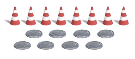 busch-7788-traffic-cones-hole-covers-oo-ho-gauge