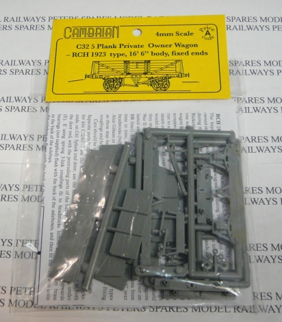 cambrian-c32-rch-5-plank-wagon-fixed-ends-plastic-kit-oo-gauge