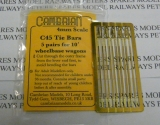 OO Gauge Cambrian C306 Tie Bars 5 Pairs For 9ft6 Wheelbase Wagons