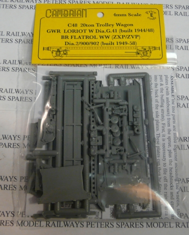 cambrian-c48-gw-br-loriot-w-tolley-wagon-plastic-kit-oo-gauge