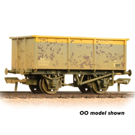 graham-farish-377281-27-ton-zkv-steel-tippler-wagon-br-grey-yellow-weathered-n-gauge