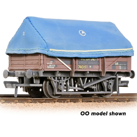 graham-farish-377476-china-clay-wagon-br-bauxite-with-hood-weathered-n-gauge
