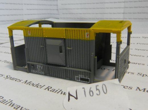 hornby-n1650-ztv-brake-van-bodyshell-grey-yellow