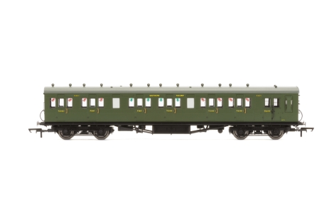 hornby-r4719a-sr-58ft-maunsell-rebuilt-exlswr-48-six-compartment-brake-composite-coach-6401-set-42-oo-gauge