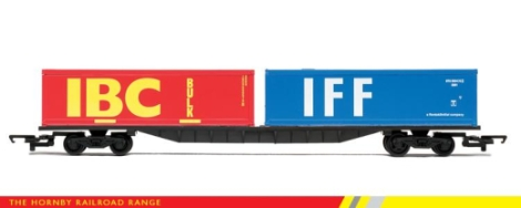 hornby-r6425-container-wagon-with-x2-30ft-containers-oo-gauge