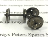 Peters Spares PS82 12.6mm 3 Hole Disc Wagon & Coach Wheels - One Wheel Live To Axle (x1 Pair)