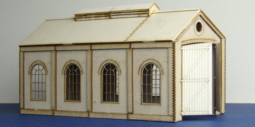 Small Round Windows: LCUT Creative B 00-08 Engine Shed Single Track (Small