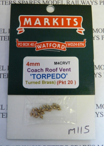 markits-m115-m4crvt-coach-roof-vents-torpedo-05-xhole-turned-brass-pk20-oo-gauge