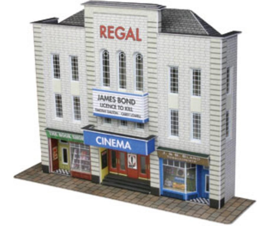 Metcalfe PN170 Low Relief Cinema Card Kit N Gauge