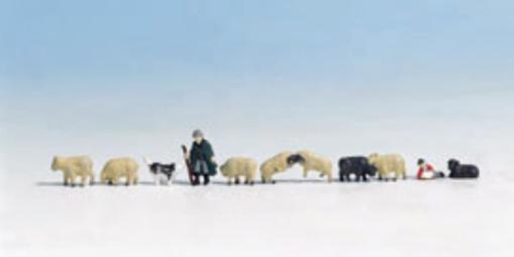 noch-36750-shepherd-sheep-pk11-figures-n-gauge-figures-set