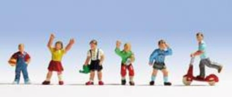 noch-36815-children-at-play-n-gauge-ready-painted-figures-set