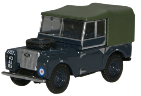 oxford-diecast-76lan180004-land-rover-series-1-80-canvas-raf-oo-gauge