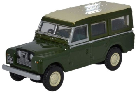 oxford-diecast-76lan2002-land-rover-series-ii-station-wagon-bronze-green-oo-gauge