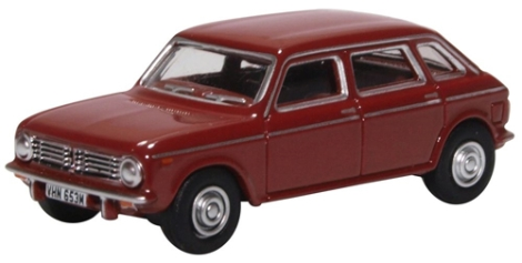 oxford-diecast-76mx002-austin-maxi-damask-red-oo-gauge