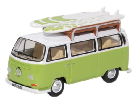 oxford-diecast-76vw028-vw-bay-window-bussurfboards-lime-greenwhite-oo-gauge