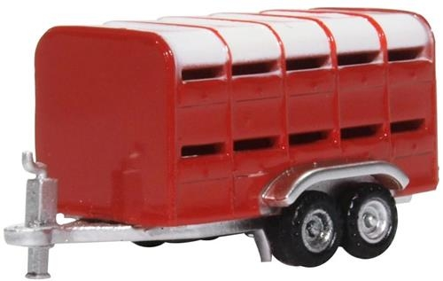 oxford-diecast-nfarm004-livestock-trailer-red-n-gauge