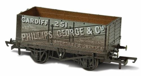 oxford-rail-or76mw7019w-7-plank-mineral-wagon-phillips-george-co-251-weathered-oo-gauge