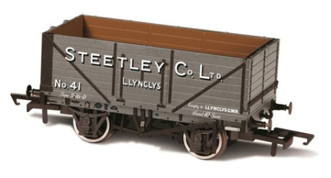 oxford-rail-or76mw7024-7-plank-mineral-wagon-steetley-and-co-llynclys-oo-gauge