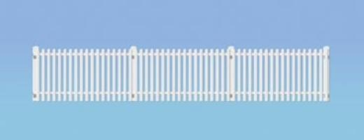 ratio-421-gwr-station-fencing-white-straight-only-oo-gauge