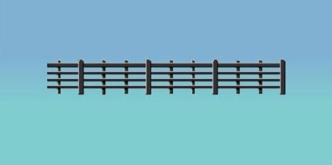 ratio-425-lineside-fencing-black-4-bar-oo-gauge