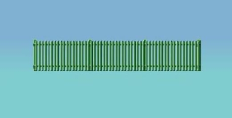 ratio-431-picket-fencing-green-straight-only-oo-gauge
