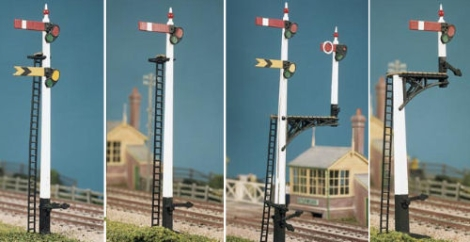 ratio-466-gwr-square-post-signal-4-signals-jcnbracket-kit-oo-gauge