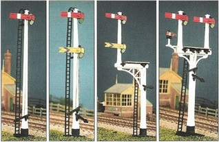 ratio-477-lnwr-square-post-signal-4-signals-jcnbracket-kit-oo-gauge