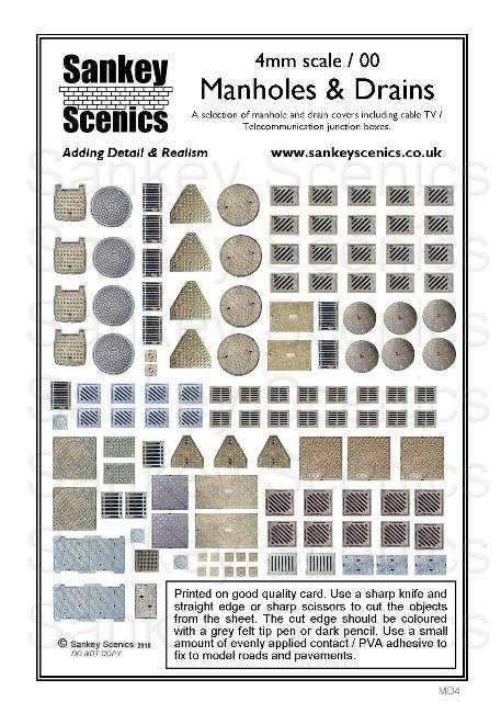 sankey-scenics-md4-manholes-drains-4mm-oo-gauge