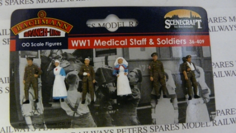 scenecraft-36409-ww1-medical-staff-and-soldiers-pk6-figures-oo-gauge