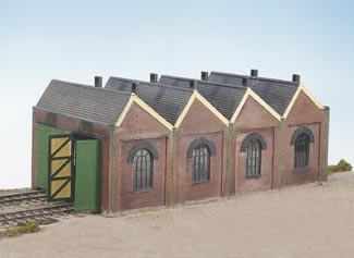 wills-ck12-craftsmans-kits-two-road-engine-shed-plastic-kit-oo-gauge