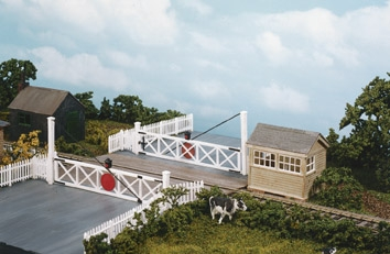 wills-ss56-level-crossing-and-pedestrian-wicket-gates-plastic-kit-oo-gauge