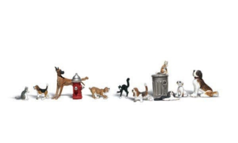 woodland-scenics-a1841-dogs-cats-pk12-assorted-figures-set-ho-gauge