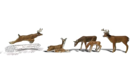 woodland-scenics-a1884-deer-pk6-figures-set-ho-gauge