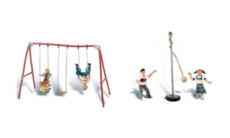 woodland-scenics-a1943-playground-fun-figures-set-swing-figures-pole-game-ho-gauge