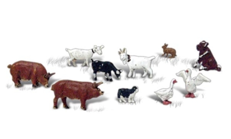 woodland-scenics-a2202-barnyard-animals-10pcs-figures-set-n-gauge